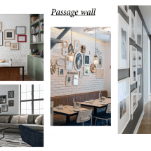 Passage wall design
